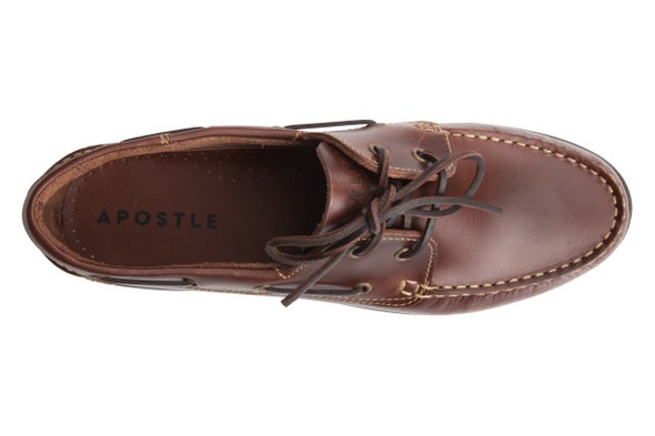 Top Image for 100E Leather Boat Shoe