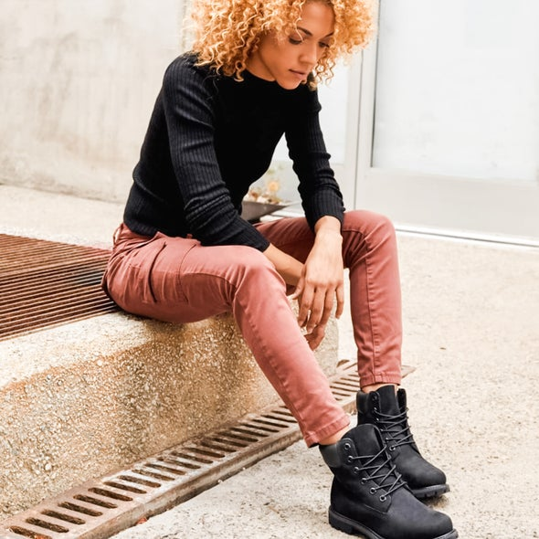 Angle Image for 6 Inch Premium Womens Lace-up Boot
