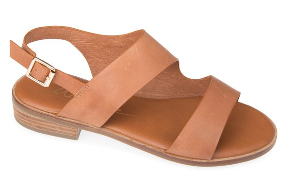 Angle Image for Beach Strappy Leather Sandal