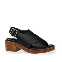 Berry Leather Sling Back