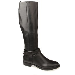 Calico leather knee high boot