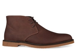Chukka Leather Lace-up Ankle Boot
