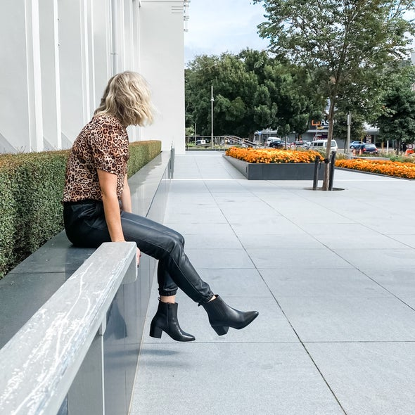 Angle Image for Cole Leather Ankle Boot