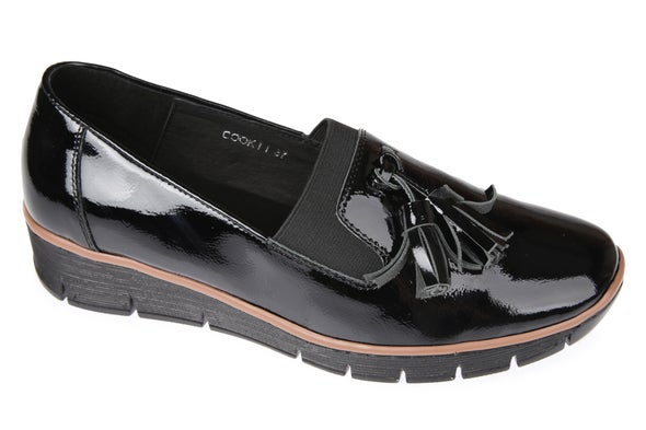 Angle Image for Cook Leather Slip-on Shoe