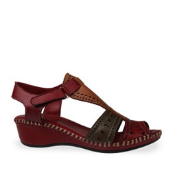 Crumber Strappy Leather Sandal