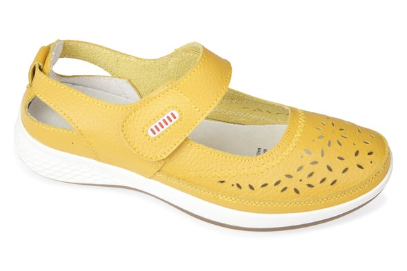 Angle Image for Dena Strappy Leather Shoe