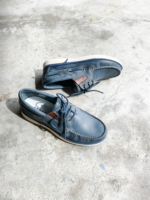 Angle Image for Destination Leather Boat Shoe