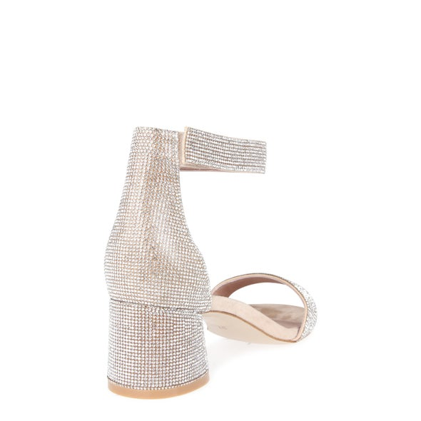 Back Image for Issa Leather Diamante Heel