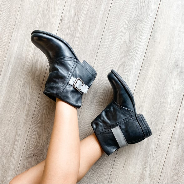 Angle Image for Jessy Buckle Leather Boot