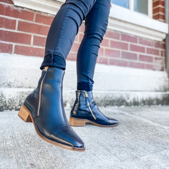 Angle Image for Kelli Leather Ankle Boot