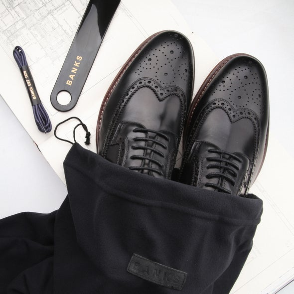 Angle Image for Kenneth Leather Brogue Shoe