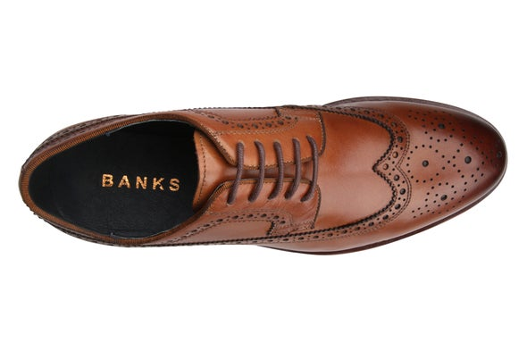 Top Image for Kenneth Leather Brogue Shoe