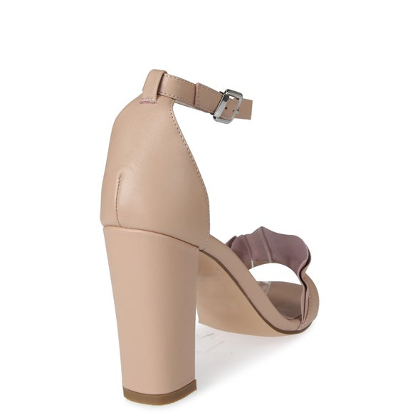 Back Image for Devune Strappy Leather Heel