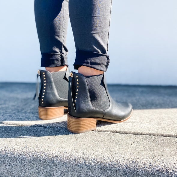 Angle Image for Kye Leather Ankle Boot