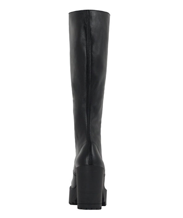 Back Image for Lash Leather knee high laceup boot