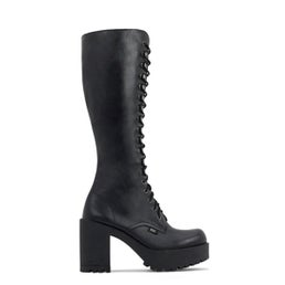 Lash Leather knee high laceup boot