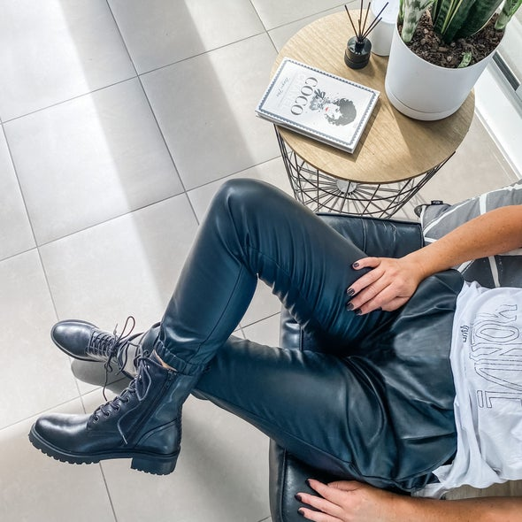 Angle Image for Lavio Leather Lace up Boot