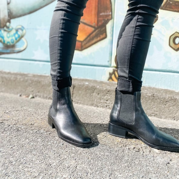 Angle Image for Lenni Leather Ankle Boot
