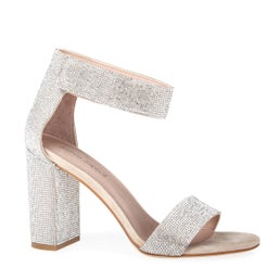 Lindsay Leather Diamante Heel