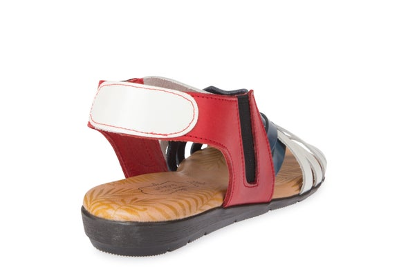 Back Image for Mia Cross leather Sandal