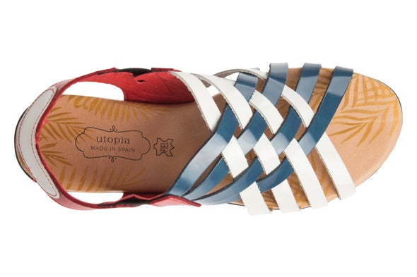 Top Image for Mia Cross leather Sandal