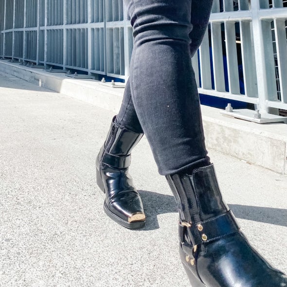 Angle Image for Poker Leather Boot