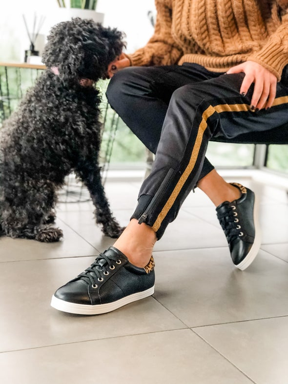 Angle Image for Revive Leather Lace-up Sneaker